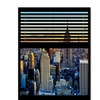 Philippe Hugonnard Window View NYC Sunset 6 Canvas Print 24 x 32