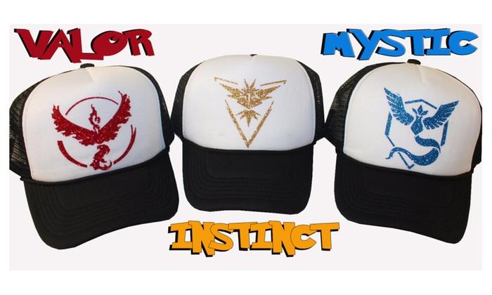 Pokemon GO Hat Team Instinct Mystic Valor & Ash Ketchum Adjustable Cap