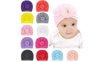 Cute Baby Boundless Newborn Circle Baotou Baby Solid Color Ball Head Hat