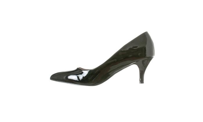 c7064227e98 ... Riverberry Women s Katy Pointed Closed Toe Kitten Low Heel Pumps ...