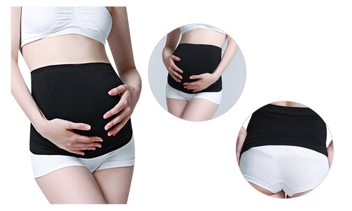 XL L Women Maternity Pregnancy Belly Band Belt Support x 4 Colours S M