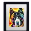 Dean Russo 'Akita' Matted Black Framed Art