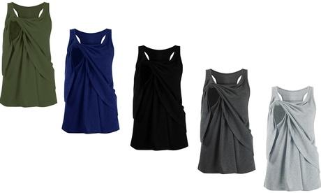Women Maternity Nursing Vest Wrap Soild Casual Tank Tops (Size S - XXXL)