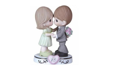 Precious Moments 119929 Figurine 25Th Anniversary Couple With Heart (Goods Toys) photo