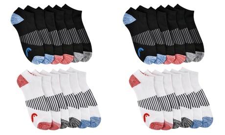 12 Pairs: HEAD Men's Cushioned Moisture-Wicking Athletic No Show Socks f7072e20-836b-47d1-a33f-5f8e26b82873