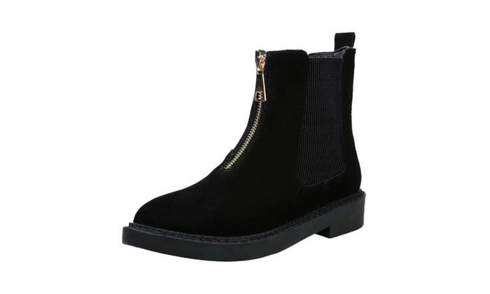 Women's Breathable Zip Marten Boots