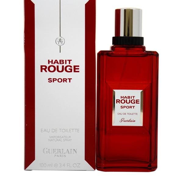 52c4d972c63a1 Habit Rouge Sport by Guerlain for Men - 3.4 oz EDT Spray | Groupon