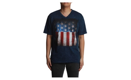 Destroyed American Flag V-neck