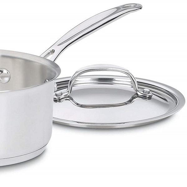 1 1//2 Quart Cuisinart Cookware Cuisinart 719-16 Chefs Classic Stainless Saucepan with Cover