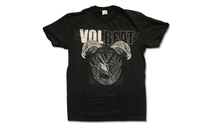 "Adult Volbeat ""Double Eagle"" Black T-Shirt"