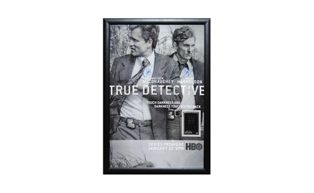 True Detective - Signed Poster in Wood Frame with COA 95883cef-576f-46fe-bf24-e7e098c9b002