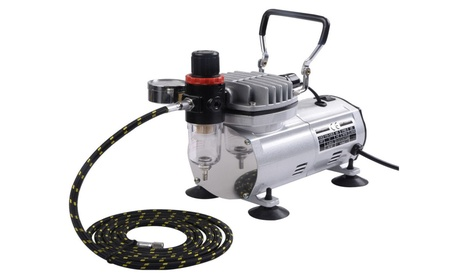 New 3 Airbrush & Compressor Kit Dual-Action Spray Air Brush Set Tattoo 9b140b80-122b-414c-9e7c-fb914ac417cf