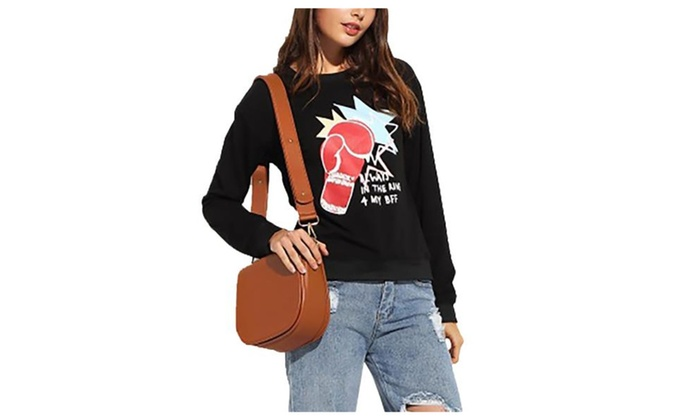 Women's Printed Casual Graphic Pullover Sweatshirt