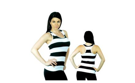 10-Pack of Women's Striped Tank Tops - Winter Blowout