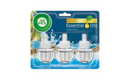 Air Wick Scented Oil 3 Refills, Turquoise Oasis, (3X0.67oz)