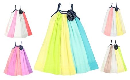 LELEFORKIDS Toddlers & Girls Super Soft A-Line, Color Block Dress c07f880c-eb9e-41f2-b28d-5112b76ec9e5