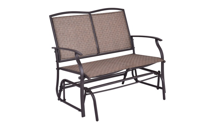 Exceptional Costway Patio Glider Rocking Bench Double 2 Person Chair Loveseat