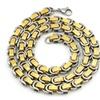 Greek key Vintage Stainless Steel Necklace for Men