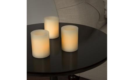 Lavish Home 8 Piece LED Votive Flameless Wax Candle Set
