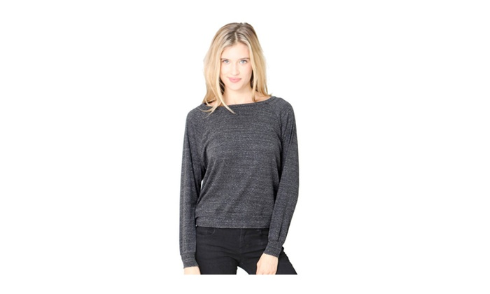 Royal Apparel Womens Triblend Long Sleeve Raglan Pullover Tee Shirt