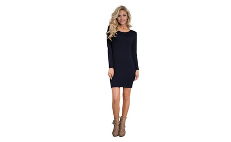 Women's Sexy Casual Long Sleeve Short Dress a1cc689b-8383-4eb2-aeaa-44a5af970194