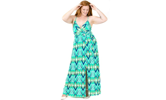 bcbed7348fb Up To 29% Off on Plus Size Cami Strap Chevron ...