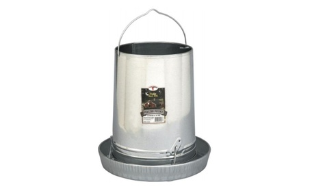 Miller Manufacturing 14in. Galvanized Hanging Poultry Feeder Tubes (Goods For The Home Patio & Garden Bird Feeders & Food) photo