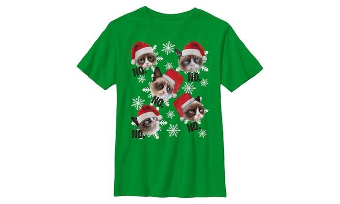 keithwel fifth sun grumpy cat ugly christmas sweater snowflake no boys t shirt