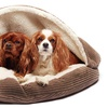 Corduroy and Sherpa-Lined Pet Cave Bed