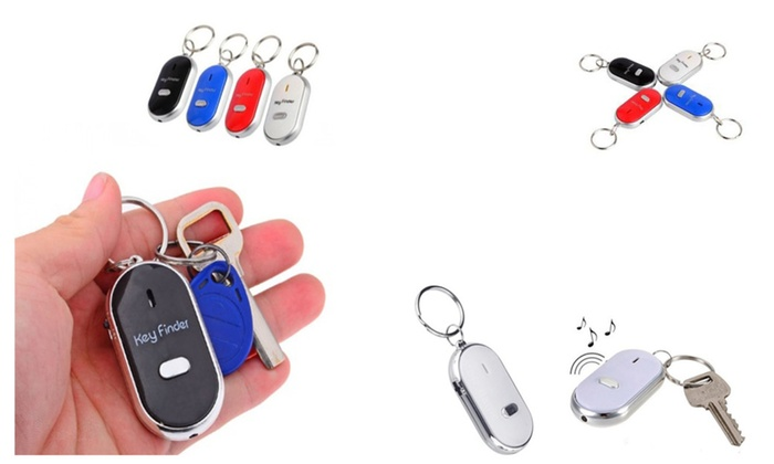 High Quality Whistle Beep Key Finder with LED Light ( 2 Pack)