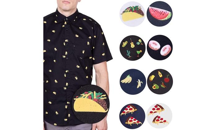 21607300 Mens Hawaiian Shirt Short Sleeve Button Up Printed Casual Woven Shirts