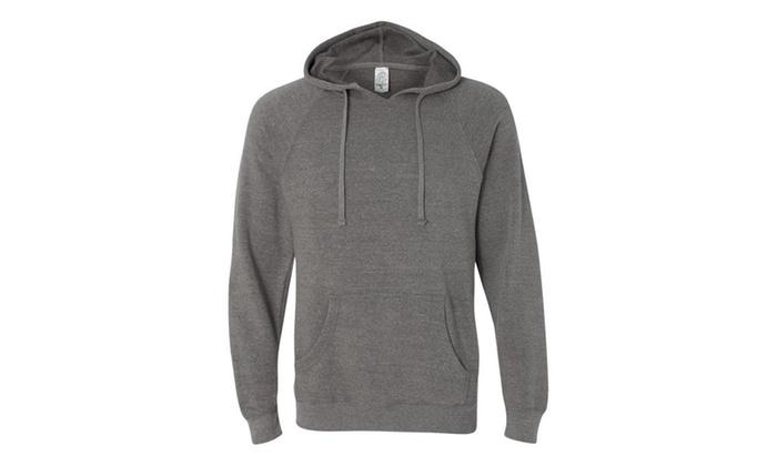 Ind. Trading Mens Special Blend Raglan Hooded Pullover PRM33SBP-2