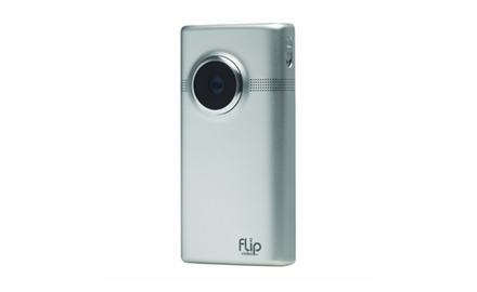 Flip MinoHD Video Camera - Brushed Metal 8GB
