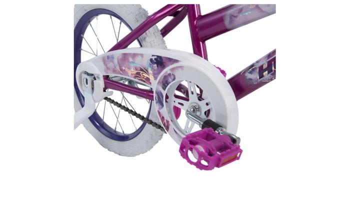 "Girls Bike 16/"" Sea Star EZ Build Kids Bicycle Training Wheels Metallic Purple"
