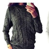 Women O Neck Long Sleeve Loose Knitted Sweater Jumper Pullover Tops