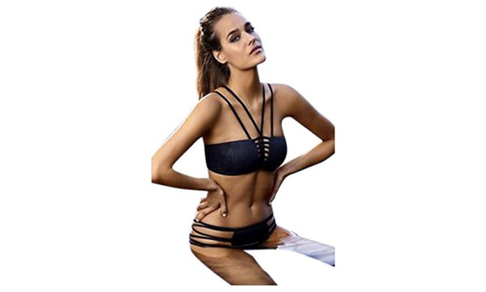 Elady Sexy Bikini Beachwear Top Bottom Sets Swimsuit Cut-Out