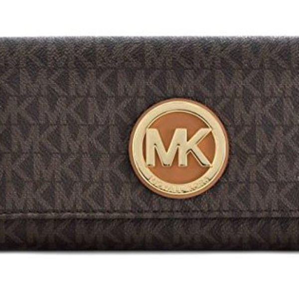 aa5f5ecebd85 Michael Kors PVC Leather Fulton Flap Continental Wallet - Brown -  32S7GFTE3B-200