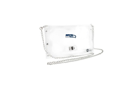 Little Earth Productions 301312-SEAH Clear Envelope Purse (Goods Women's Fashion Accessories Wallets) photo