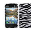 Insten Zebra Hard Back Skin Case For Lg Optimus Zone 2