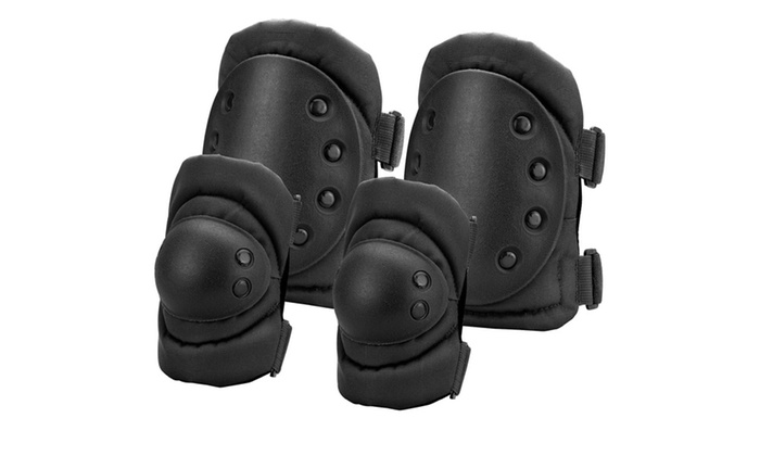Barska Loaded Gear CX-400 Elbow and Knee Pads-Black