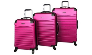 Ciao Voyager Hardside Spinner Luggage Set (3-Piece): Rose