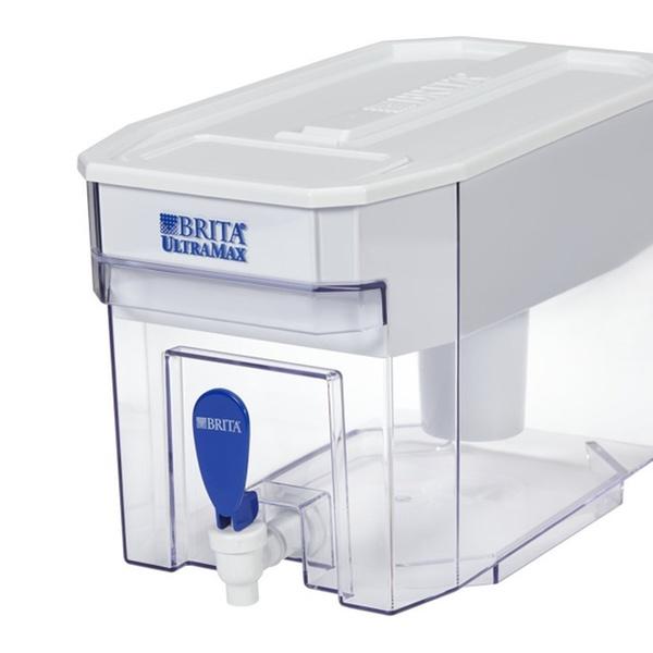 Brita Large 18 Cup UltraMax Water Dispenser and Filter Black BPA Free