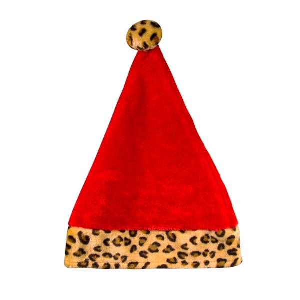 0f21286af9c81 Holiday Christmas Zebra   Leopard Print Plush Santa Hats (2 Pack ...
