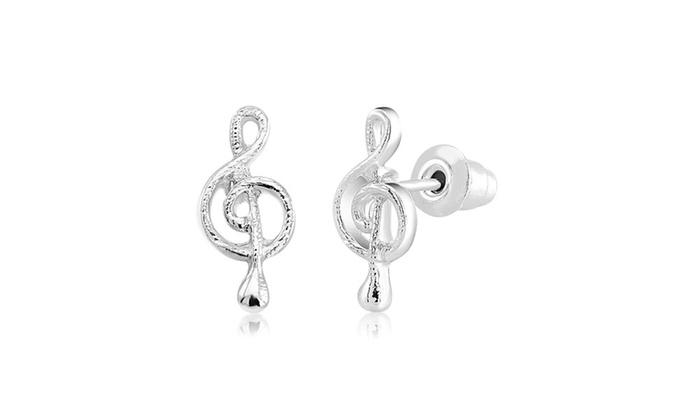 Musical Note Stud Earrings