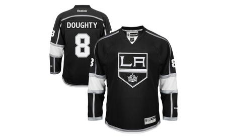 Mens Los Angeles Kings Drew Doughty Black Home Premier Jersey bc71657a-a2c5-4da7-9aa4-b6f776c66b09