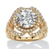 4.78 TCW Round CZ Crossover Halo Ring