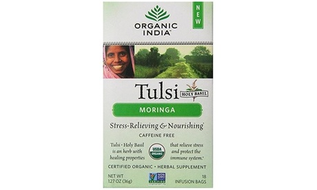 Organic India 1543156 Tulsi Tea Organic Moringa 18 Tea Bags photo