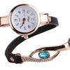 Gold Gemstone Bracelet Watch For Women