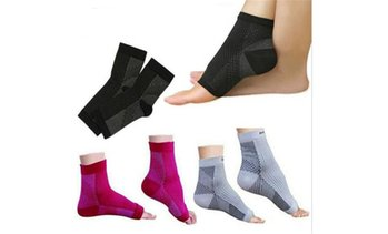 3Pairs Compression Foot Sleeve Ankle Support Socks Plantar Fasciitis Pain Relief