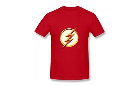 Dc Comics Flash Tv Season 2 Lightning Bolt Logo Mens T-shirt Red 8edf1567-a02d-493f-b81c-5aba9b865606